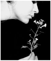 Self Portrait with Flower by SilverSidhe