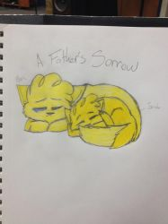 A Father's Sorrow Colored by VioletFuzzypelt