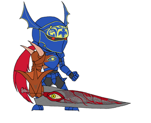 Chibi Giant Swords - Nightmare by Twardz