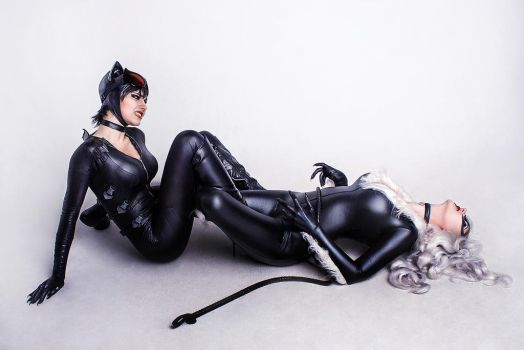 Black Cat vs Catwoman cosplay 8 by TinOmenOgre