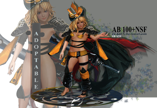 Adoptable closed - Yellow Little Warrior Girl by AVA-core