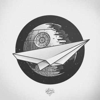 Paper Star Destroyer tattoo design by MateusCosme