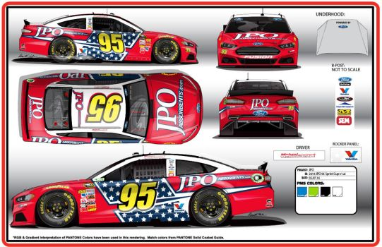 2014 #95 JPO Absorbents Ford Fusion by graphicwolf