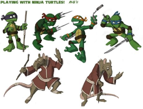 Some Turtles, for fun :V by Kobb