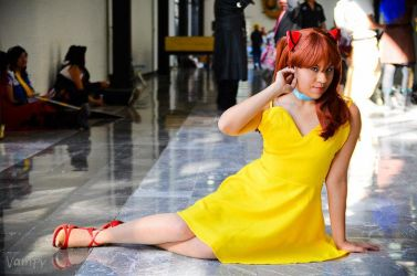 Asuka Langley--Yellow dress... by ArElI-ChAn