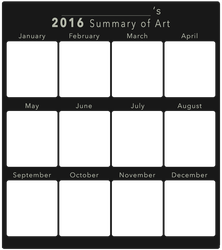 2016 Summary of Art BLANK by DustBunnyThumper