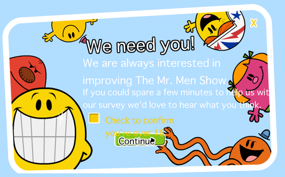 Survey from the Mr. Men Show site by Percyfan94