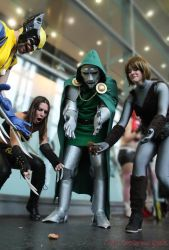 MCC: Wolverine n X-23: w Dr Doom and Squirellgirl by MummeryComics