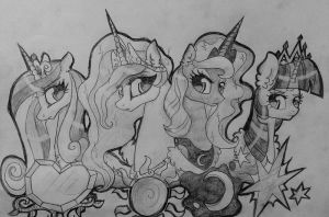 Royalty Equestria by TheMoonRaven
