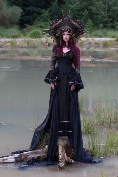 Stock - Gothic sea goddess sad looking at you by S-T-A-R-gazer