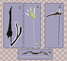 {:.Offer/Hatchable Weapons humanoid -OPEN-.:} by Drakyblack