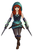 Nuzlocke RWBY Collab - Huntress Sara by Krisantyne