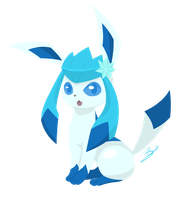 Shiny Glaceon!!! by PirateGod3D2Y