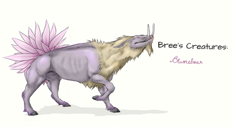 Bree's Creatures: Blumeboar by nightwindwolf95