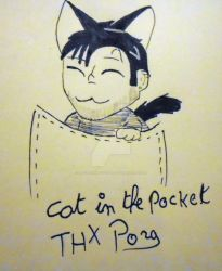 Inktober 2018 - Day 12 : Cat in the Pocket by FallenAngelScythe