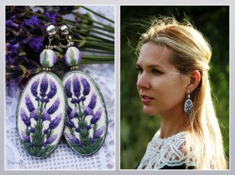 Earrings Lavender by vasoiko