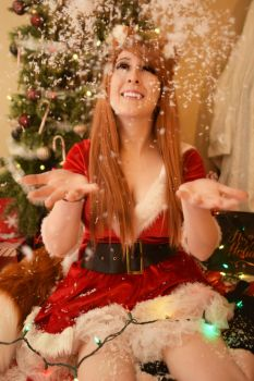 Christmas Spice and Wolf Holo Cosplay by EroticNeko