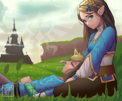 Morning in Hyrule [+video] by Hiro-Arts