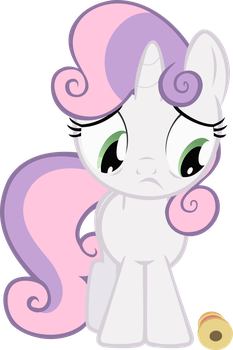 Sweetie Belle and the ribbon by FabulousPony