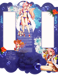 About Summer Tamamo-no-mae by petitfoxy