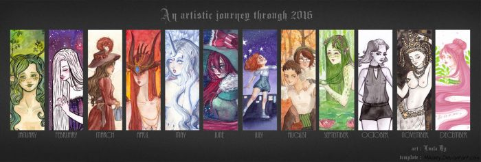An artistic journey through 2016 The Final Chapter by LualaDy