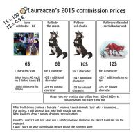 Commission Price sheet [2015] by lauraacan