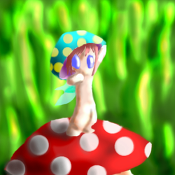 'shroom-boy on a 'shroom by Willow-Kitsune