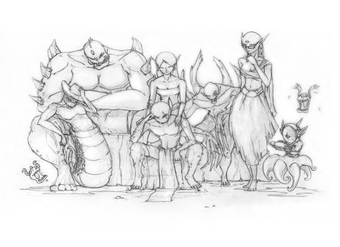 The Monster Family Potrait by Gx89