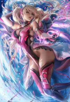 Pink Mercy by sakimichan