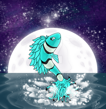 Nemo and the Moon by Treori