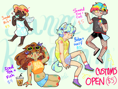 Summer Treats Kemonomimi !! - [OPEN 3/4] by ayilingadopts