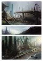 Ruined City Concepts by kovah