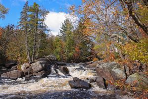 Upper Falls at Dave's Falls by papatheo