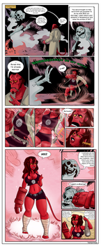 TG Comic - Hellboy and the Mad Monk by TheMightFenek