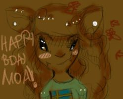 Happy burfday moa!!!! by Zelda-muffins