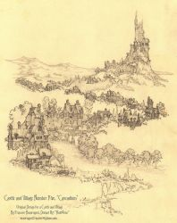 Castle and Village Number Five, Cascadium by Built4ever