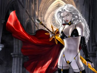 LADY DEATH Cover (Denver Comic Con 2013 Exclusive) by DouglasShuler