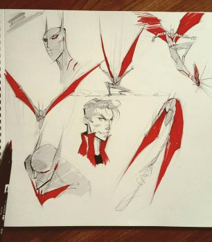 Batman Beyond doodles by COLOR-REAPER