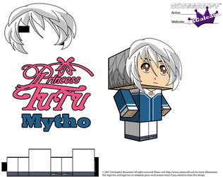 Cubeecraft of Mytho from Princess Tutu Part 2 by SKGaleana