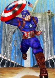 Captain America in Brooklin Bridge by wkohama