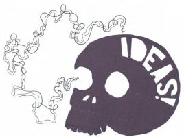The Ideas Skull by brobe