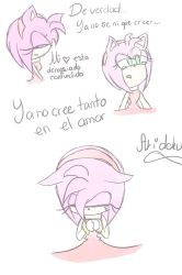 Amy triste y confundida a color by Aridoku