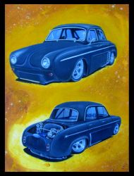 Renault Dauphine Dragster by FesterBZombie