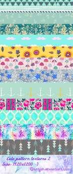 Cute pattern textures 2 by Brilijah