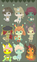Mini Day of the Dead Critters .:Closed:. by Pietastic-Creations