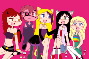 Girls Night! by Kawaii-Amu-Quinn