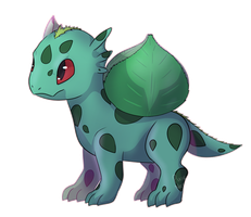 Pokedragons- 001 Bulbasaur by TheDragon-Empress