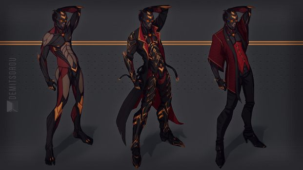 Technorealm: Kayos Outfits by Demitsorou