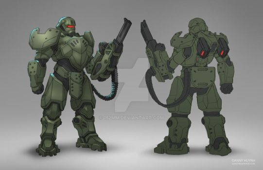 Commission: Heavy Suit by 152mm