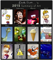 2015 Summary of Art by EarthGwee